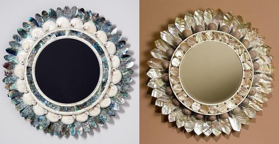 Seashell mirrors paris